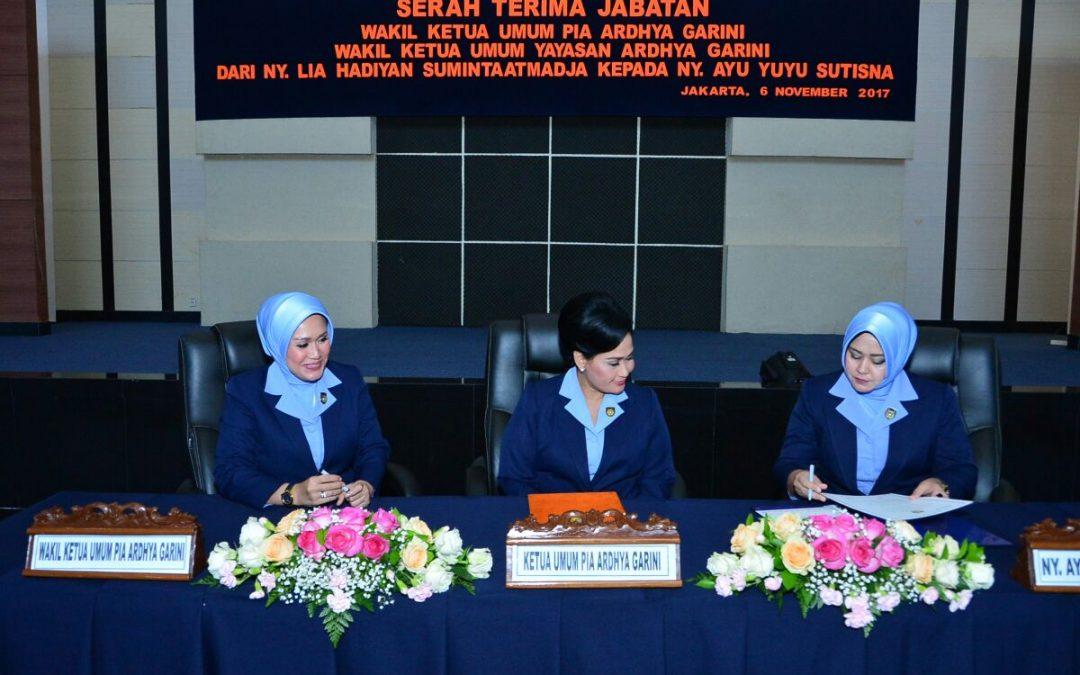 Serah Terima Jabatan Wakil Ketua Umum Pia Ardhya Garini